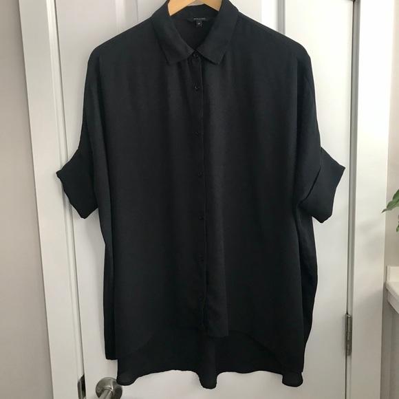 RW&CO black gauzy oversize blouse - overshirt